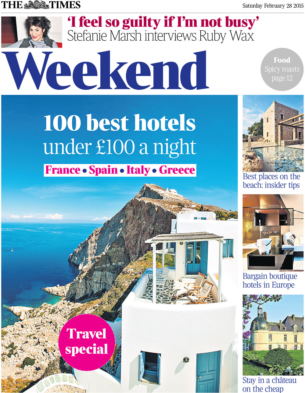 Anemomilos Apartments at UK Times Weekend Magazine